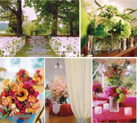 Flowers & Decor, orange, pink, green, Flowers, Inspiration board