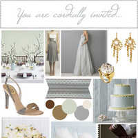 yellow, brown, silver, gold, Grey, Inspiration board