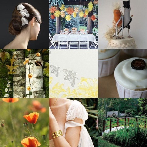 yellow, orange, Inspiration board
