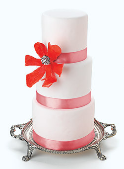 Cakes, orange, pink, cake, Modern, Modern Wedding Cakes