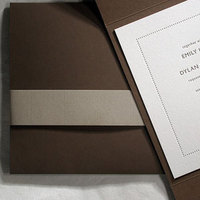 Stationery, brown, Invitations, Bella figura
