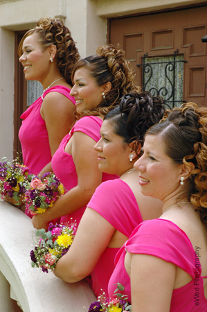 Beauty, Bridesmaids, Bridesmaids Dresses, Fashion, pink, Makeup, Curly Hair, Hair, Curly