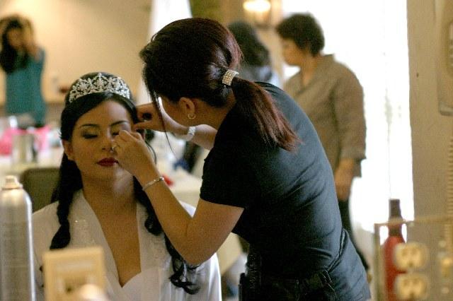 Beauty, Updo, Wedding, Hair, Formal, Barrel, Makekup, Curl