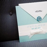 Stationery, blue, Invitations