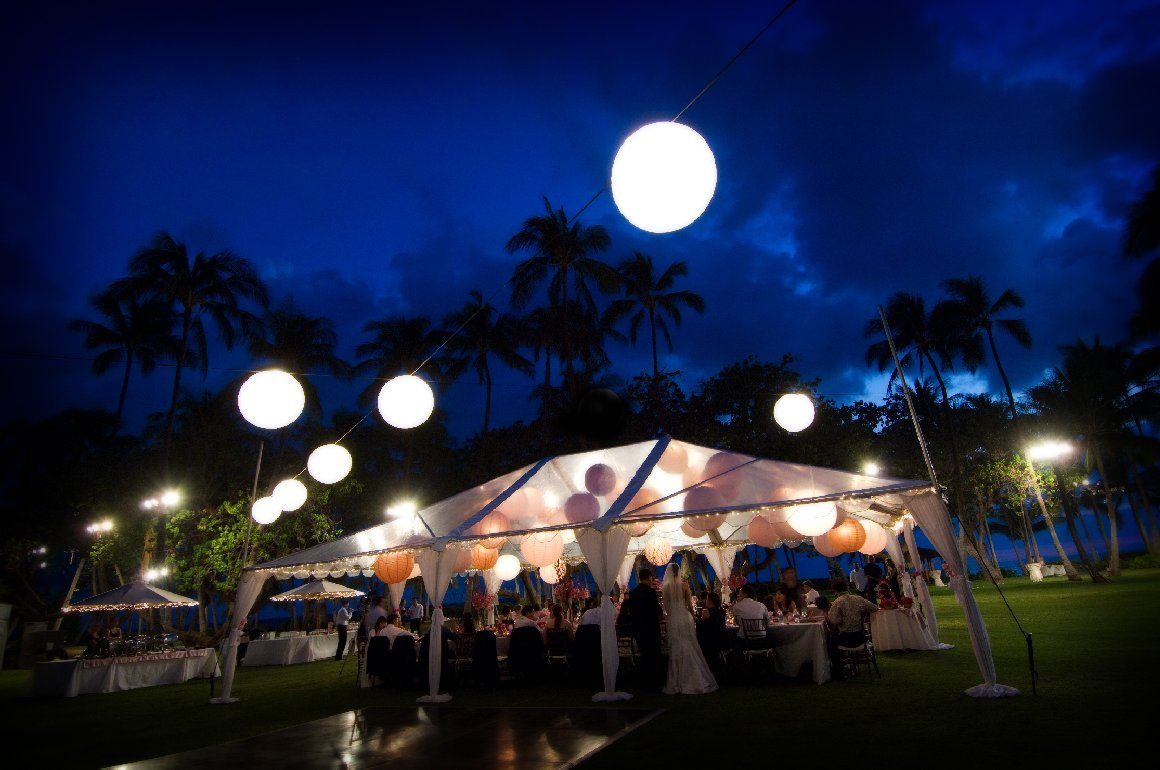 Wedding, Tent, Lanterns, Lanikuhonua, Oahu, Visionari