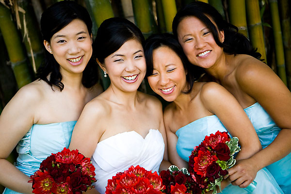 Bridesmaids, Bridesmaids Dresses, Fashion, Bouquet, Aqua and red