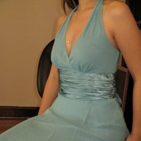 blue, Bridesmaids dress