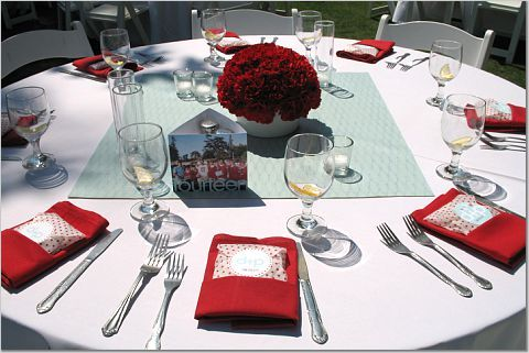 Reception, Flowers & Decor, Decor, Centerpieces, Centerpiece, Aqua and red
