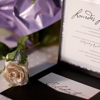 Stationery, purple, black, silver, invitation, Square, Invitations, Sauci delightfully unordinary™, Wedding invitation