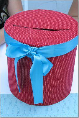 Aqua and red, Cardbox