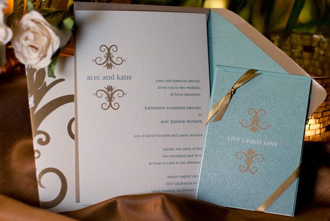 Stationery, blue, gold, invitation, Invitations, Teal, Sauci delightfully unordinary™, Wedding invitation