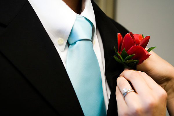 Flowers & Decor, Groomsmen, Flowers, Aqua and red