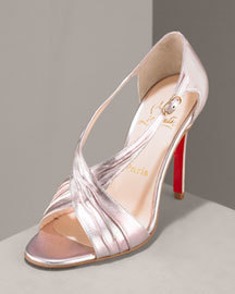 gold, Christian louboutin, Sandals