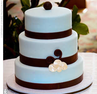 Cakes, blue, brown, cake, Modern, Modern Wedding Cakes