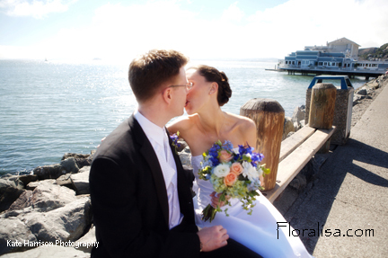 Bouquet, Bridal, Floralisa weddings, Sausalito