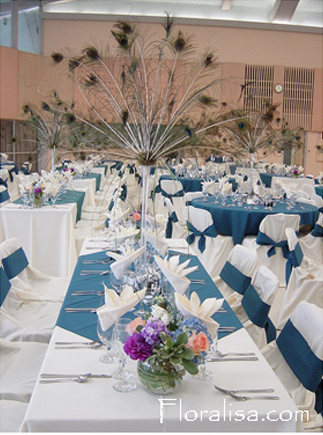 Centerpiece, Tall, Floralisa weddings, Peacock