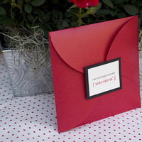 Stationery, red, invitation, Square, Invitations, Booklet, Sauci delightfully unordinary™