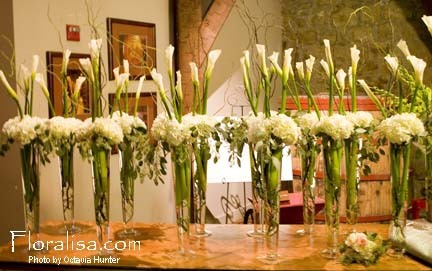 Centerpieces, Calla, Tall, Floralisa weddings