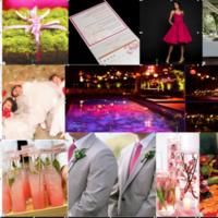 Inspiration, orange, pink, green, Board