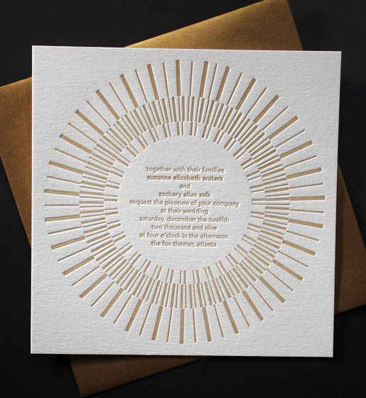 Stationery, gold, Modern, Invitations, Bella figura