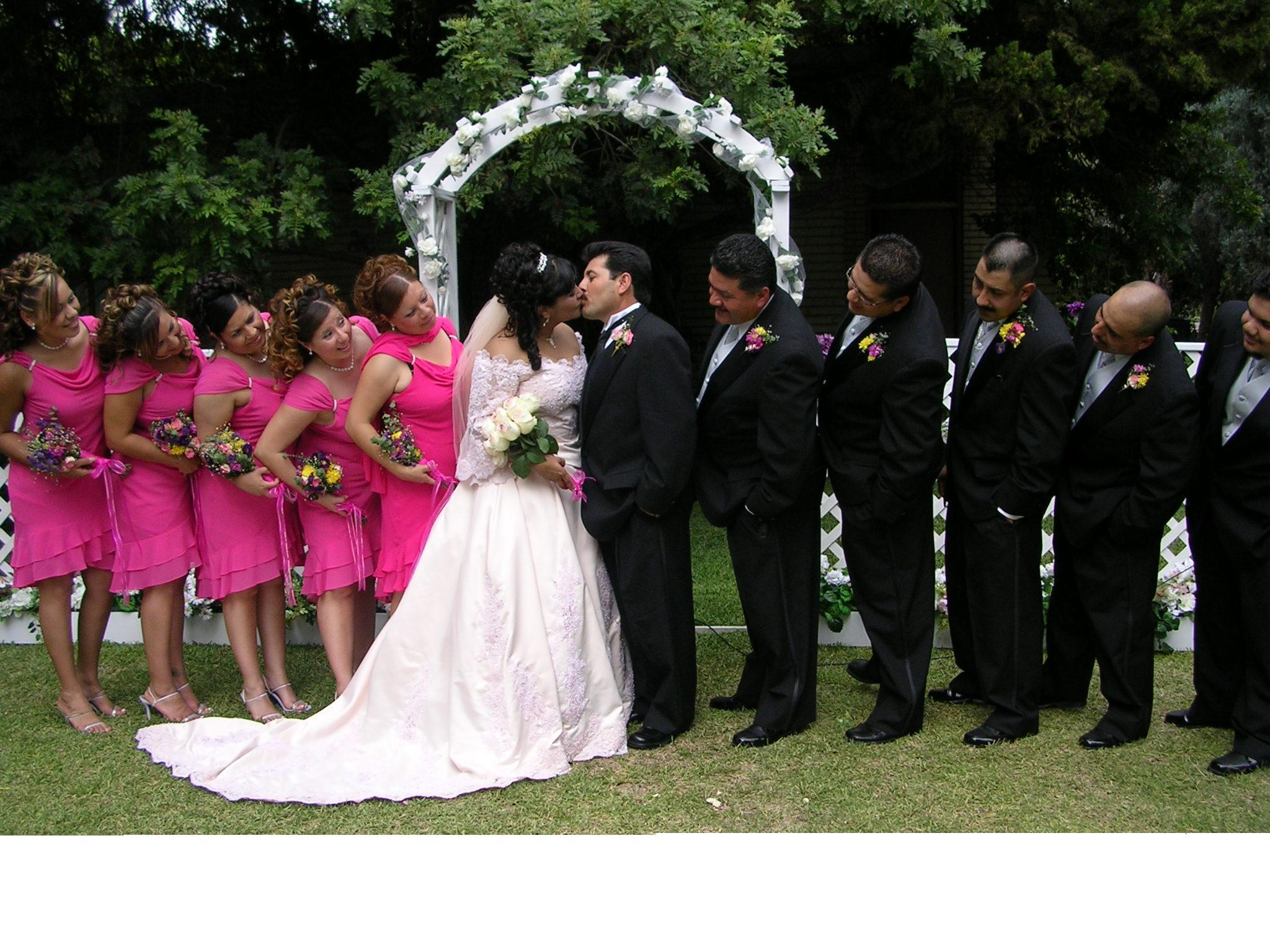 pink, Wedding party