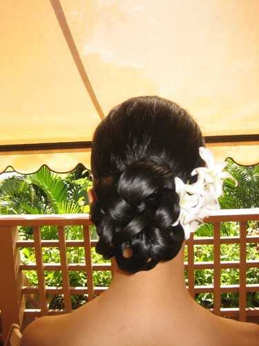 Beauty, Chignon, Updo, Hair, Back, Up, Half, Dan sanchez salon, Pulled