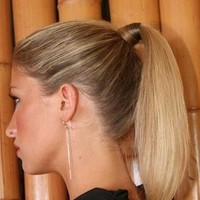 Beauty, Chignon, Updo, Hair, Back, Up, Half, Dan sanchez salon, Pulled, Tail, Pony