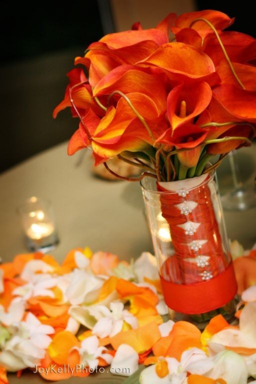 orange, Bouquet, Bridal, Flowers by atalanta