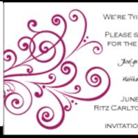 Stationery, red, Invitations, Custom, Letterpress, Farfalla wedding, Burgandy, Swirl