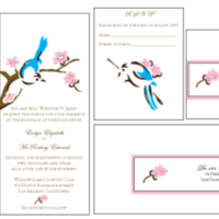 Stationery, pink, blue, brown, Invitations, Custom, Bird, Letterpress, Farfalla wedding