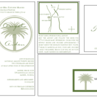 Stationery, white, green, Invitations, Custom, Cream, Letterpress, Palm, Farfalla wedding