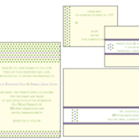 green, Invitations, purple, Letterpress, Custom, Farfalla wedding, Cream, Dots, Stationery