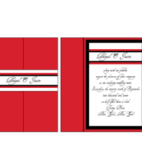Stationery, red, black, Invitations, Custom, Letterpress, Farfalla wedding, Stripes