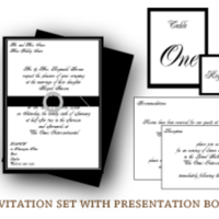 Stationery, white, black, Invitations, Custom, Boxed, Letterpress, Box, Farfalla wedding