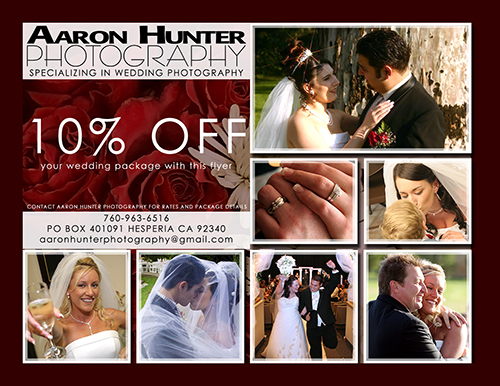 Aaron hunter photography, Coupon
