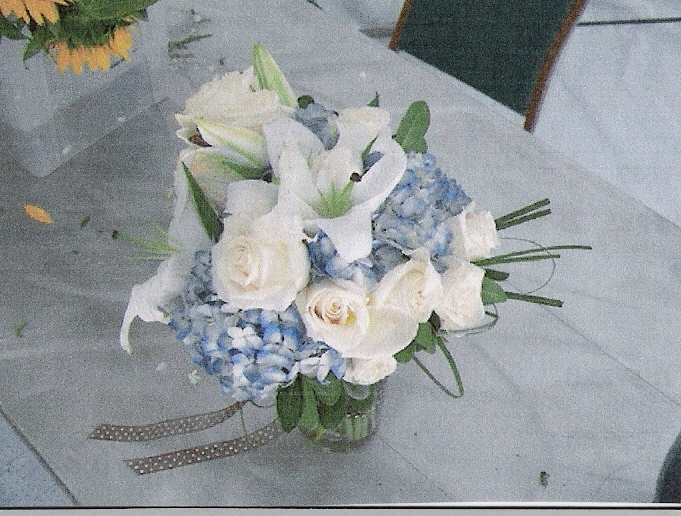 Flowers & Decor, blue, Bride Bouquets, Flowers, Roses, Bouquet, Hydrangea