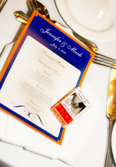 orange, blue, Menu, Serendipity design