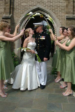 Ceremony, Flowers & Decor, Bride, Groom, And, Exit