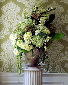 green, Ceremony Flowers, Vintage Wedding Flowers & Decor