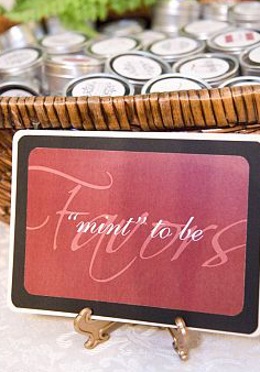 Favors & Gifts, red, black, favor, Serendipity design, Sign