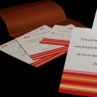 Stationery, orange, invitation, Invitations, Serendipity design, Pocketfold, Fuschia
