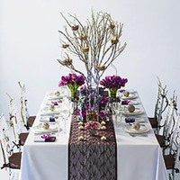 Reception, Flowers & Decor, Table, Lace, Up, Set, Overlay