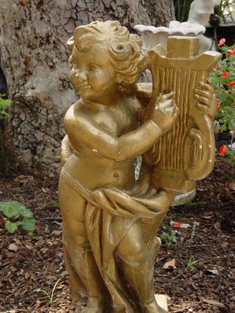Reception, Flowers & Decor, gold, Santa anita gardens, Statues