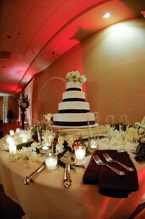 Reception, Flowers & Decor, Cakes, white, brown, cake