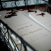 DIY, brown, Ceremony program