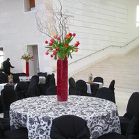 Flowers & Decor, white, black, Modern, Flowers, Modern Wedding Flowers & Decor, And, Tall, Arrangement, Morgan gallo events