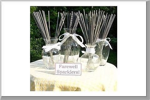 Reception, Flowers & Decor, Sparklers