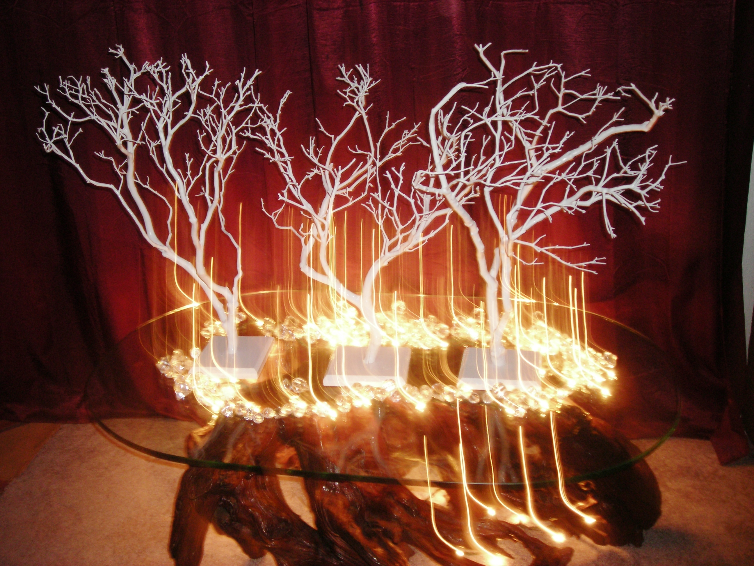 Centerpieces, Wedding, Branches, Table, Decorations, Manzanita, Fantasy