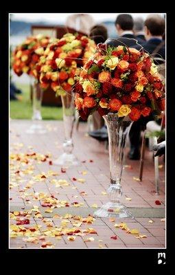 Ceremony, Flowers & Decor, Ceremony Flowers, Aisle Decor, Flowers, Aisle