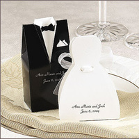 Favors & Gifts, white, black, Favors, Bride, Groom, And, Best little wedding shop